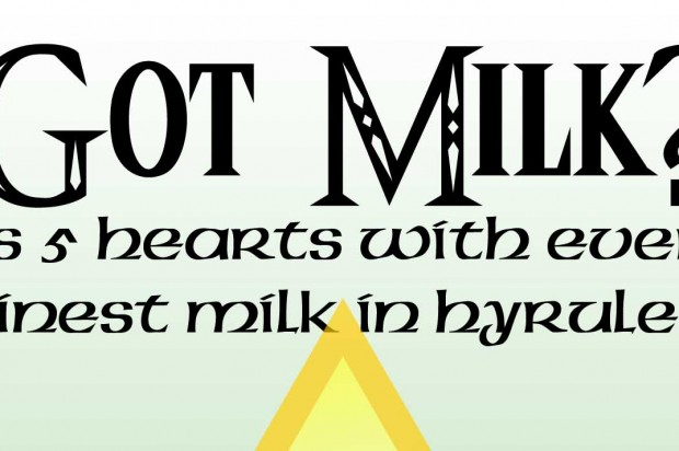 Got Milk? Listen up Hylians! Introducing Lon Lon Milk