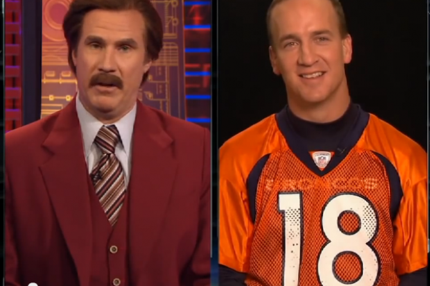 Video: Anchorman's Ron Burgundy interviews Peyton Manning for ESPN.